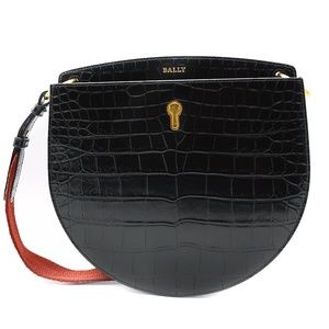 Bally Cecyle Women's Black Leather Crossbody Bag